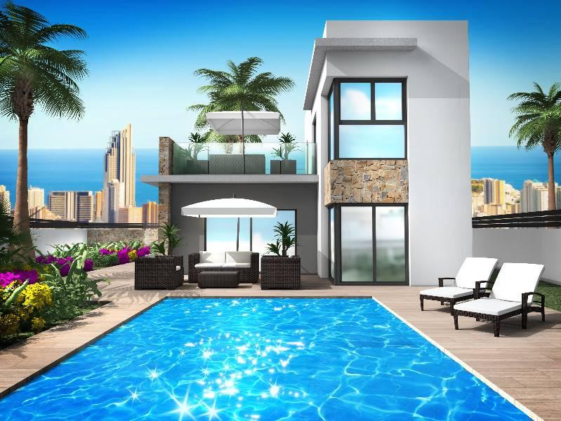 4 bedroom, 4 bathroom detached villa in Benidorm (Finestrat) only 385,000 euros