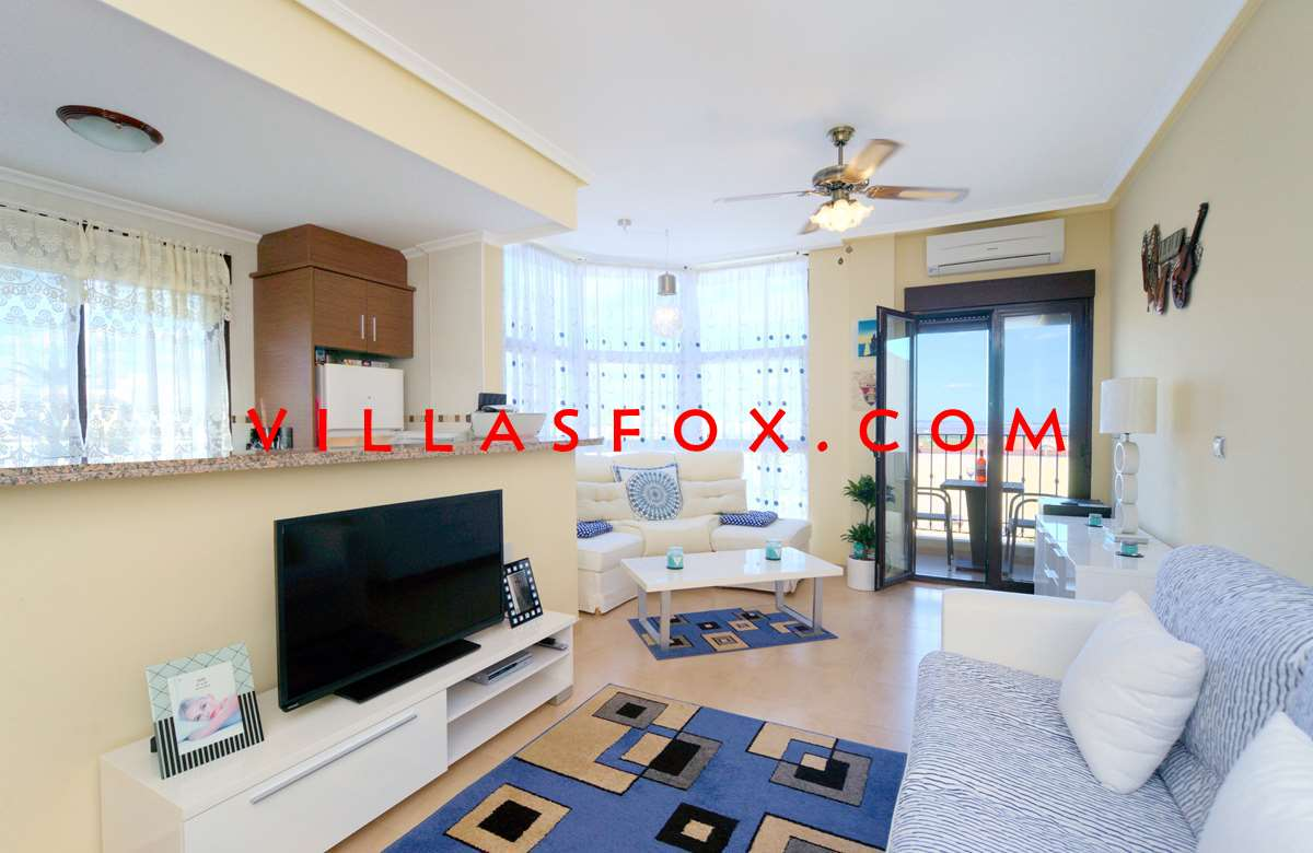 "2 bedroom, 2 bathroom luxury modern apartment with pool, San Miguel de Salinas, now only 75,000 euro - <span class=""ip-slashprice"">82,000 €</span> <span class=""ip-newprice"">75,000 €</span>"