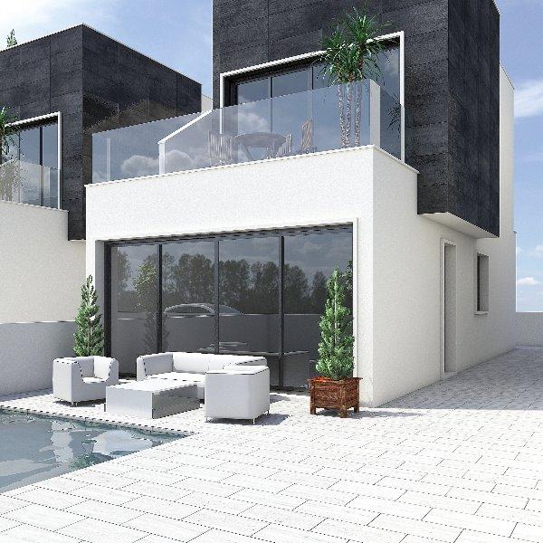 3 bedroom, 2 bathroom detached villa in San Pedro Del Pinatar (Res. Flamingo Deluxe Villas Grande) o