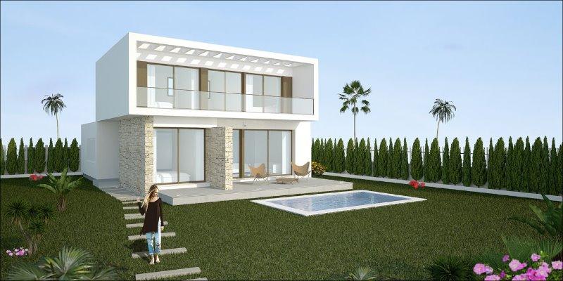 4 bedroom, 3 bathroom detached villa in Los Montesinos (Vistabella Golf) only 379,900 euros