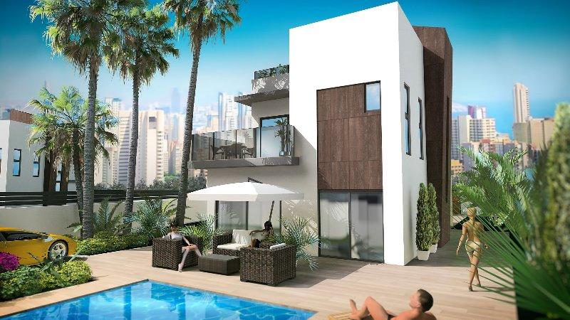 3 bedroom, 3 bathroom detached villa in Benidorm (Finestrat) only 415,000 euros